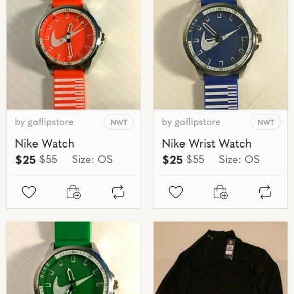 3 Nike Watches - Orange - Blue - Green